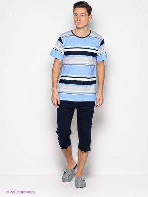 Комплект Vienetta Secret. Цвет: голубой, темно-синий, серый