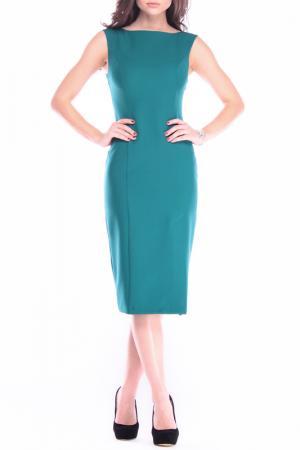 Офисное платье REBECCA TATTI. Цвет: темно-изумрудный