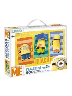 Minions. Пазл 500 элементов Beach bum в чемоданчике. Minions. Цвет: желтый, зеленый, оранжевый