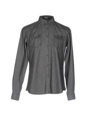 Джинсовая рубашка HIMON'S. Цвет: серый