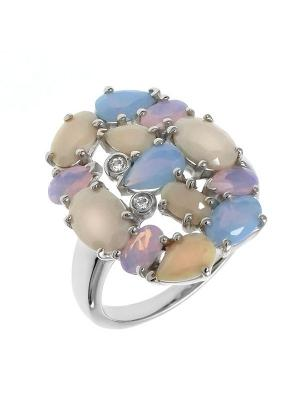 Кольцо BALEX. Цвет: бежевый, розовый, голубой, серебристый