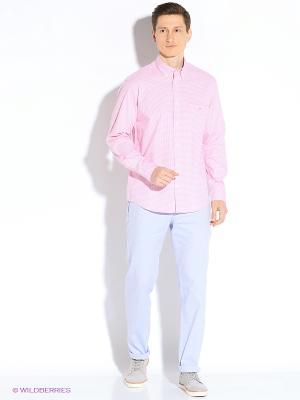 Рубашка Eden Park. Цвет: розовый, белый