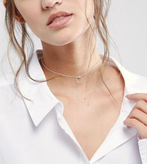 ASOS Серебряное ожерелье-чокер с кольцом. Цвет: серебряный