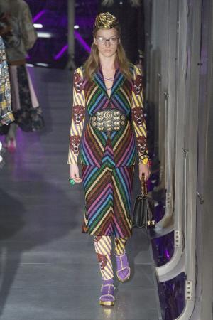 Комбинезон из шерстяного трикотажа Gucci. Цвет: multicolor