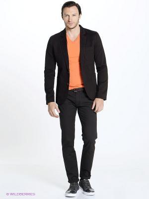 Пиджак Oodji. Цвет: темно-коричневый