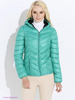 Куртка Oodji. Цвет: зеленый