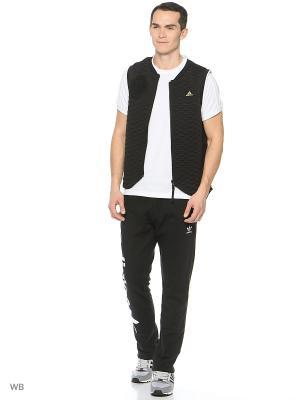 Жилет Adidas. Цвет: черный