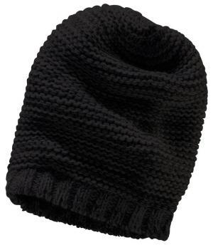 Вязаная шапка в стиле «Beenie» для детей Otto. Цвет: черный