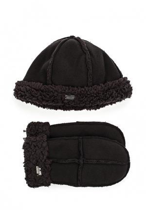 Комплект шапка и варежки Regatta. Цвет: черный