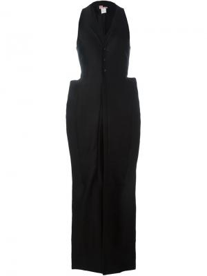 Платье макси с объемными карманами And Re Walker. Цвет: чёрный