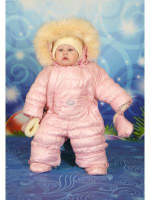 Комбинезон-трансформер для малышей Little Boy. Цвет: бледно-розовый