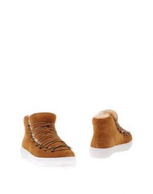 Полусапоги и высокие ботинки F-TROUPE. Цвет: верблюжий