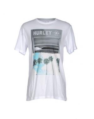 Футболка HURLEY. Цвет: белый