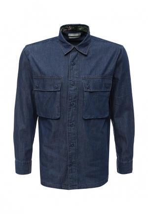 Рубашка джинсовая Mango Man. Цвет: синий