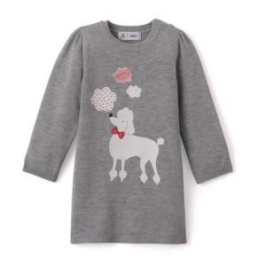 Платье трикотажное 1 мес - 3 лет La Redoute Collections. Цвет: серый меланж