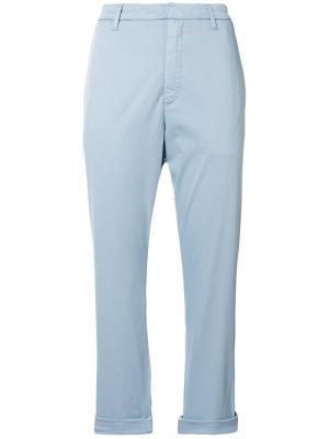 Укороченные брюки чинос Hope. Цвет: синий