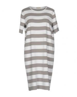 Короткое платье BRUNO MANETTI. Цвет: голубиный серый