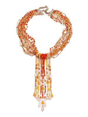Колье Kameo-bis. Цвет: оранжевый, желтый, белый