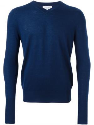 Пуловер с V-образным вырезом Ballantyne. Цвет: синий