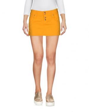 Джинсовая юбка CYCLE. Цвет: желтый