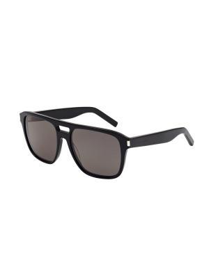 Солнцезащитные очки Saint Laurent. Цвет: черный, серый
