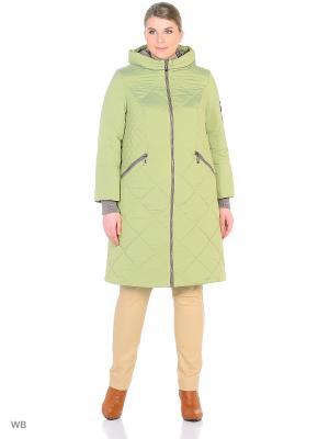 Пальто Lanicka. Цвет: светло-зеленый