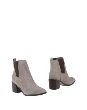 Полусапоги и высокие ботинки POUR LA VICTOIRE. Цвет: светло-серый
