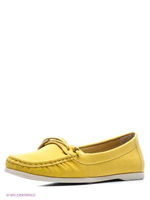 Мокасины KEDDO. Цвет: желтый