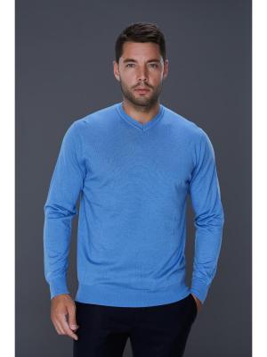 Пуловер John Jeniford. Цвет: голубой