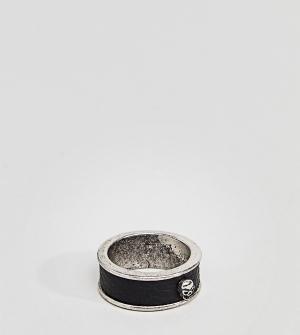 Reclaimed Vintage Серебристое кольцо Inspired эксклюзивно для ASOS. Цвет: черный