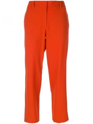 Укороченные брюки Theory. Цвет: жёлтый и оранжевый