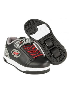 Роликовые кроссовки Dual Up X2 Heelys. Цвет: черный, серый