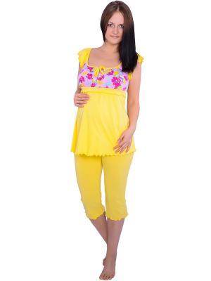 Пижама Flammber. Цвет: желтый