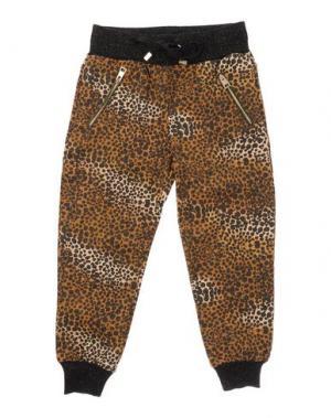 Повседневные брюки MICROBE. Цвет: коричневый