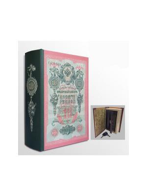 Шкатулка-сейф Кредитный билет арт.39508 (17*11*5см,из МДФ  с дверцей из черного металла) Magic Home. Цвет: белый