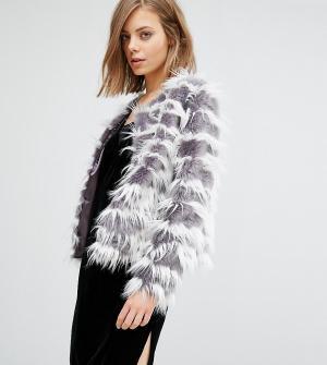 Unreal Fur Джинсовая куртка без воротника Dream. Цвет: серый