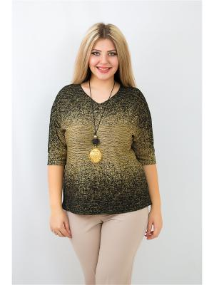 Блуза BALSAKO. Цвет: черный, золотистый