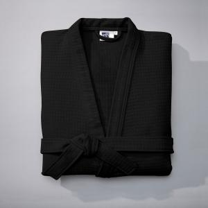 Халат из вафельной ткани, 400 г/м² La Redoute Interieurs. Цвет: черный