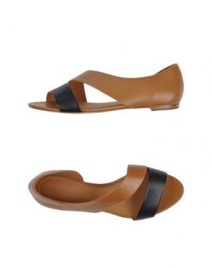 Сандалии AERIN. Цвет: коричневый