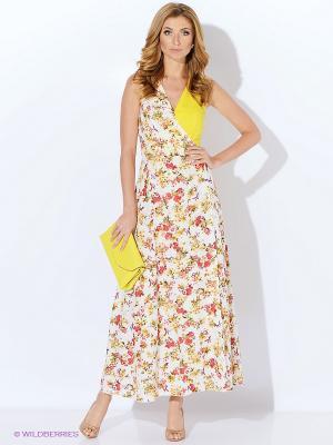 Платье Yarmina. Цвет: белый, красный, желтый