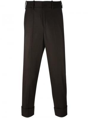 Укороченные брюки Neil Barrett. Цвет: коричневый