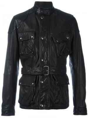 Куртка с ремнем Belstaff. Цвет: чёрный