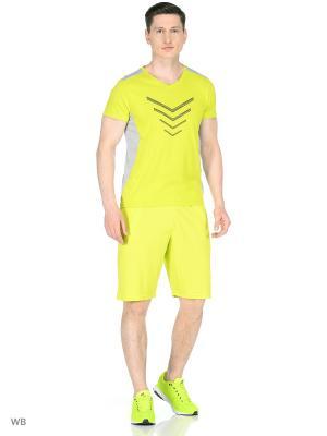 Трикотажные шорты Modis. Цвет: светло-желтый, бирюзовый