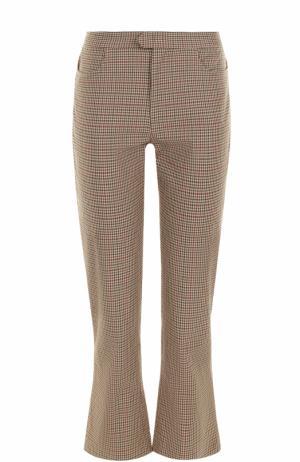 Укороченные расклешенные брюки в клетку Isabel Marant Etoile. Цвет: бежевый