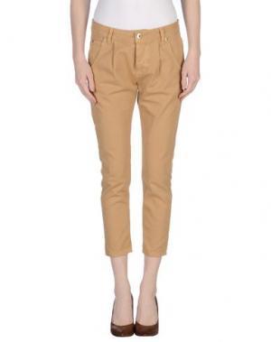 Повседневные брюки QUEEN of LOVE. Цвет: охра