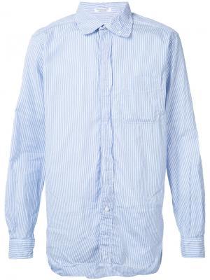 Рубашка в полоску Engineered Garments. Цвет: синий