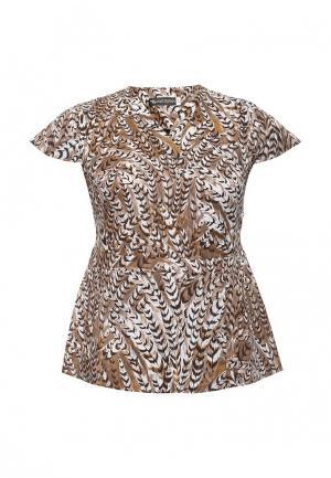 Блуза Intikoma. Цвет: коричневый