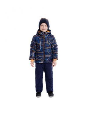Куртка PlayToday. Цвет: синий, оранжевый, белый