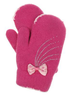 Варежки детские Migura. Цвет: розовый
