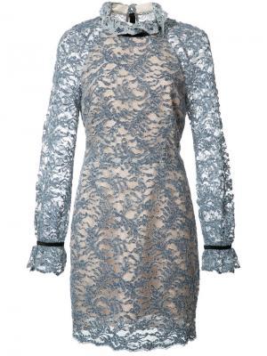 Платье мини Alexa Rebecca Vallance. Цвет: синий